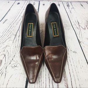 Cole Haan Brown Leather Career Heels